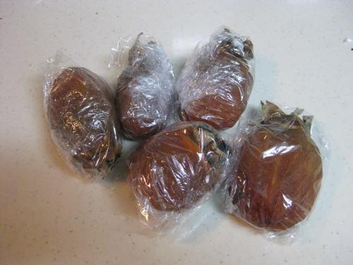 干し柿の冷凍保存