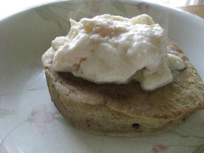 豆乳アイスとパンケーキ